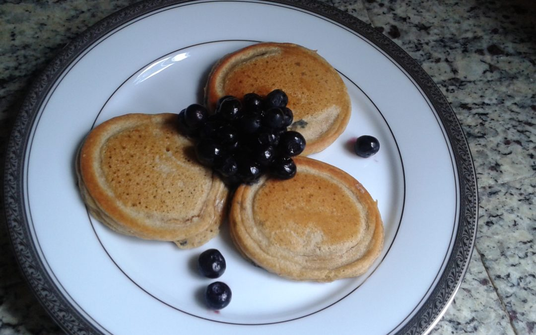 Blueberry Chickpea Pancakes